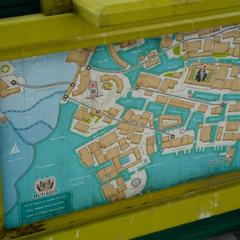 Tourist information map.