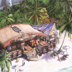 Artwork of Bodhum beach.