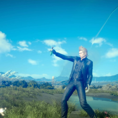 Ignis using a Potion.