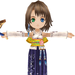 Summoner Yuna render.