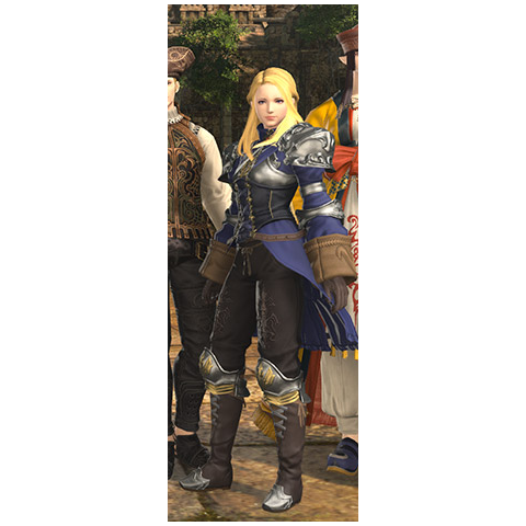 Ivalician Holy Knight's set ingame (female version)