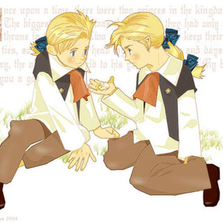 Young Edgar and Sabin artwork.