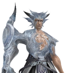 The battle render of Cid's first boss form.
