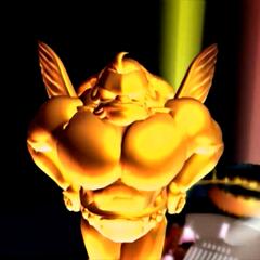Золотая статуя на вершине Золотого Блюдца.