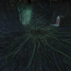 A battle background in the Evil Forest, when fighting the Plant Brain.