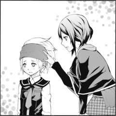 Miwa gives a bandanna to <a href=