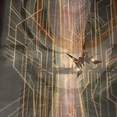 The <i>Ragnarok</i> approaches the Lunatic Pandora.