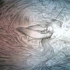 Arte feita por Yoshitaka Amano.