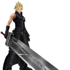 Cloud's <i>Advent Children</i> appearance render from <i>Dissidia Final Fantasy</i>.