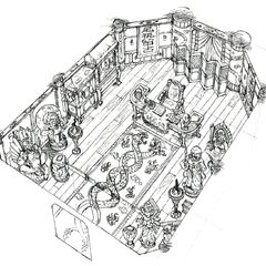 Концепт-арт особняка дона Корнео.