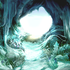 The exit of the Ice Cavern, leading out from the Mist.