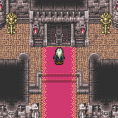 Inside Doma Castle (SNES).