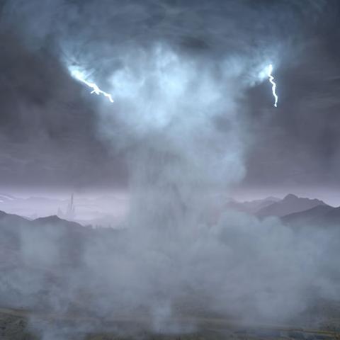 Aullido del huracán.