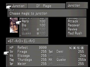 Ffviii junction menu 3