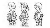 Freelancer concept sketches for Final Fantasy III 3D