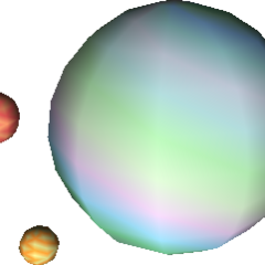 Field model of Gaia as seen in Bugenhagen's display in Cosmo Canyon in <i>Final Fantasy VII</i>.