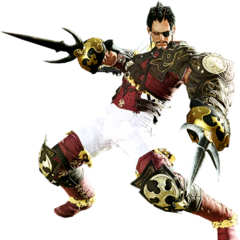 Pugilist render for <i>Final Fantasy XIV: A Realm Reborn</i>.