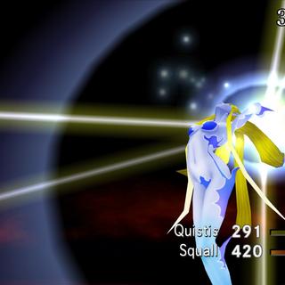 Shiva summoned in <i>Final Fantasy VIII Remastered</i>.