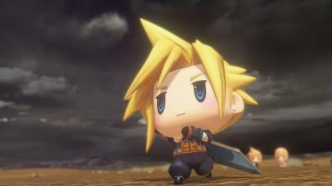 World of Final Fantasy Cloud Champion Summon (1080p 60fps)