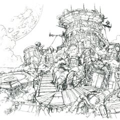 Concept art of the island.