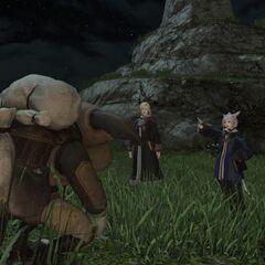 K'lyhia lecturing a goblin.
