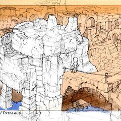 Concept art of Eiko's house.