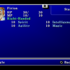 Second page of the Status menu in the PSP version.