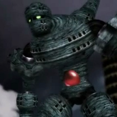 The Giant of Babil in a cutscene (PSP).