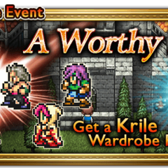 Global event banner for A Worthy Foe.