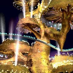 Gold Saucer as seen from the gondola ride.