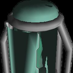 Модель контейнера для Огромной Материи в <i>Final Fantasy VII</i>.