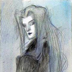Yoshitaka Amano artwork of Sephiroth for a Paris art exhibition.