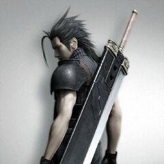 Визуализация Зака с его Бастер мечом к 10-ой годовщине <i>Final Fantasy VII</i>.