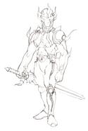 Cecil Dark Knight DS Sketch