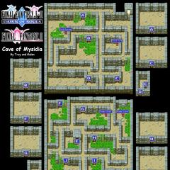 Mysidian Cave's Map (PSP).