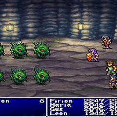 Flame Shield in <i>Final Fantasy II</i> (PS).