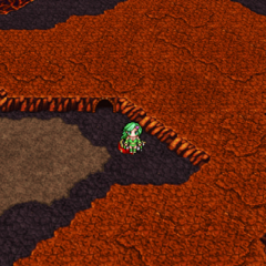 Sylph Cave on the world map (PSP).