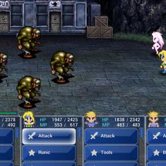Terra's Trance form in battle (iOS).