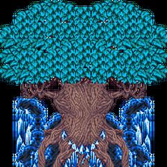Exdeath como uma árvore (GBA).