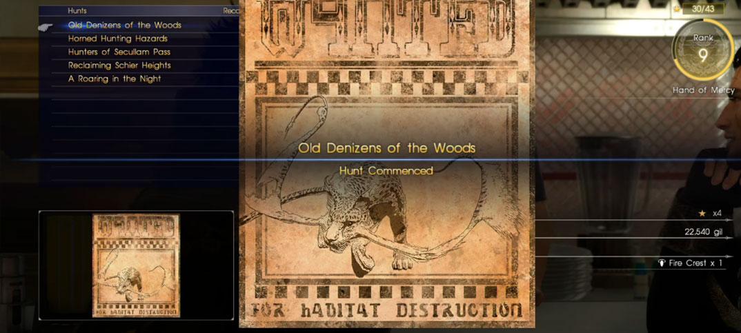 Quest Final Fantasy Xvhunts Final Fantasy Wiki Fandom Powered
