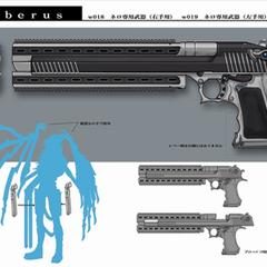 Nero's handgun.