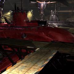 Красная подводная лодка.
