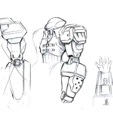 Concept art of an elite soldier, using the same model as Biggs.