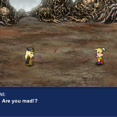 Kefka vs. Gestahl battle cutscene (Mobile/PC).