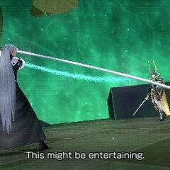 Sephiroth facing the <a href=