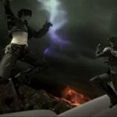 Squall vs Sephiroth in <i>Dissidia Final Fantasy</i>.