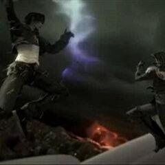 Squall vs Sephiroth.