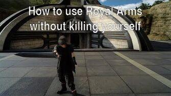 FFXV - Как минимизировать урон, наносимый себе, при использовании королевского оружия