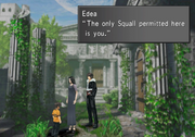 Squall time traveling from FFVIII Remastered