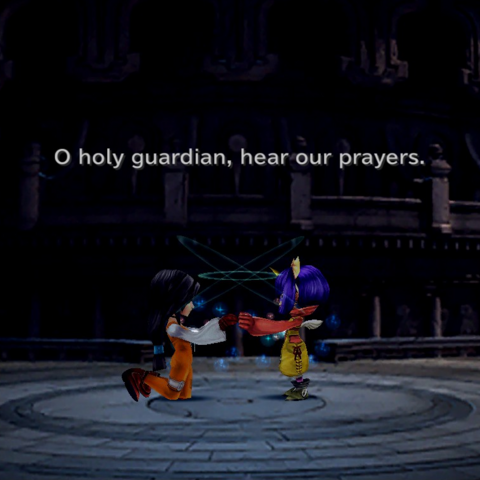 Garnet and Eiko summon Alexander.